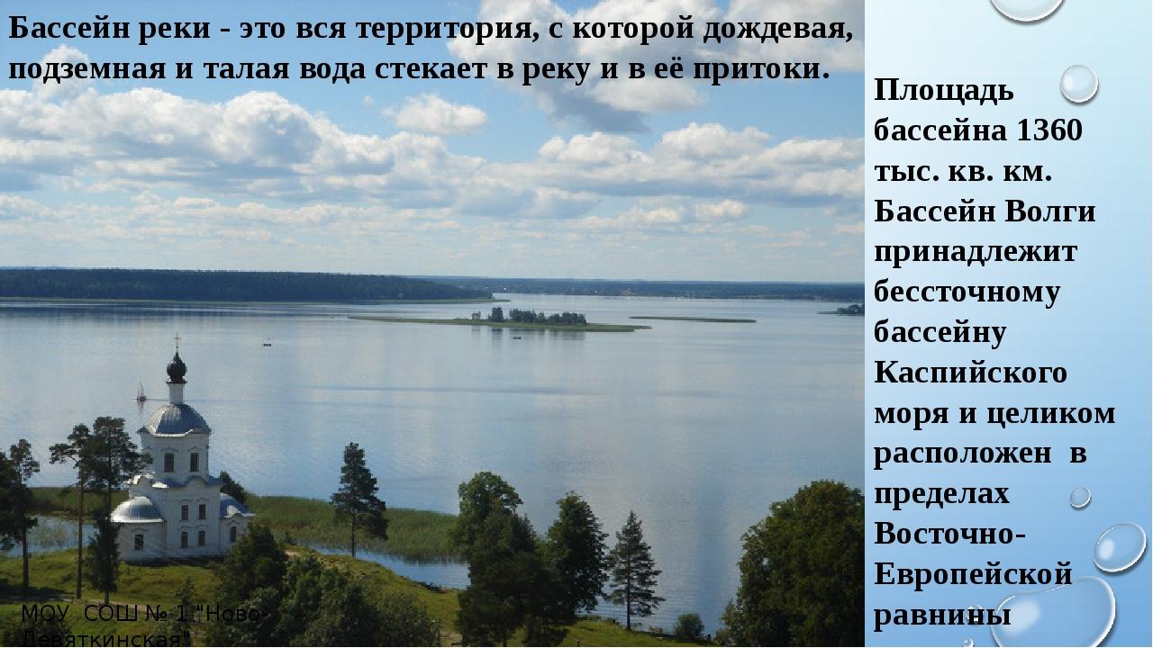 Бассейн реки - это вся территория, с которой дождевая, подземная и талая вода...