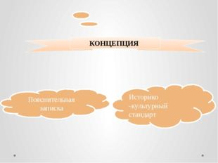 КОНЦЕПЦИЯ Историко -культурный стандарт Пояснительная записка ОБРАЗЕЦ ЗАГОЛОВ