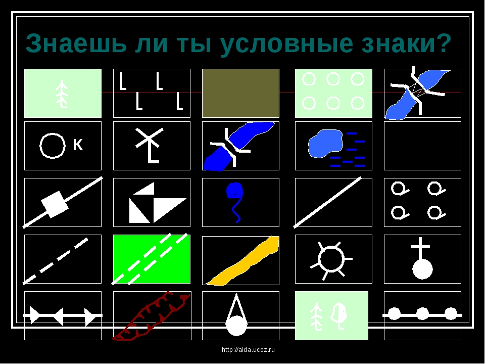 http://aida.ucoz.ru Знаешь ли ты условные знаки? http://aida.ucoz.ru