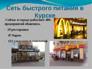 Сеть быстрого питания в Курске Сейчас в городе работают 406 предприятий общеп
