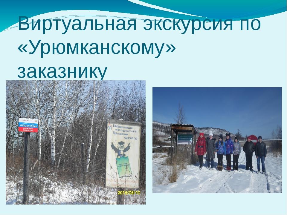 Виртуальная экскурсия по «Урюмканскому» заказнику