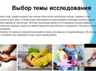 С самого утра, заходя в ванную, мы чистим зубы пастой, моем руки, посуду, ст