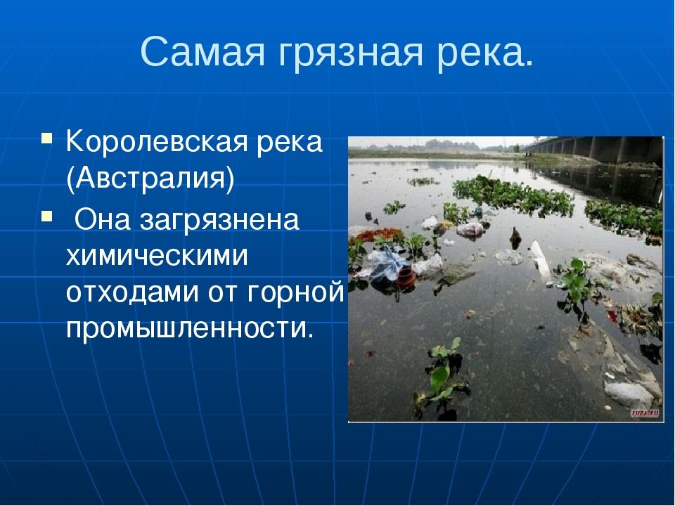 Самая грязная река. Королевская река (Австралия) Она загрязнена химическими о...