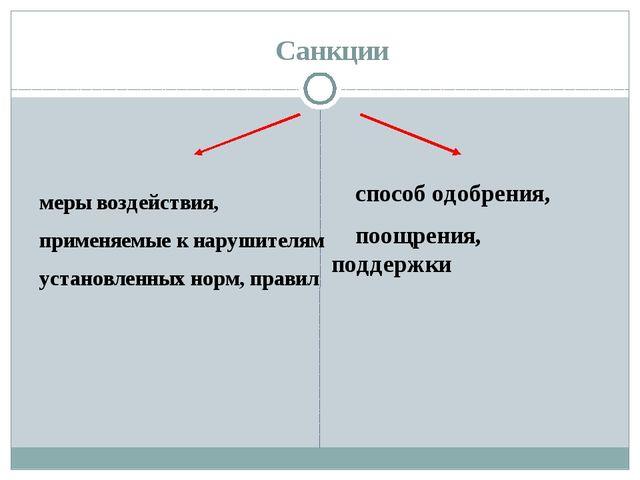 Санкции меры воздействия, применяемые к нарушителям установленных норм, прави...