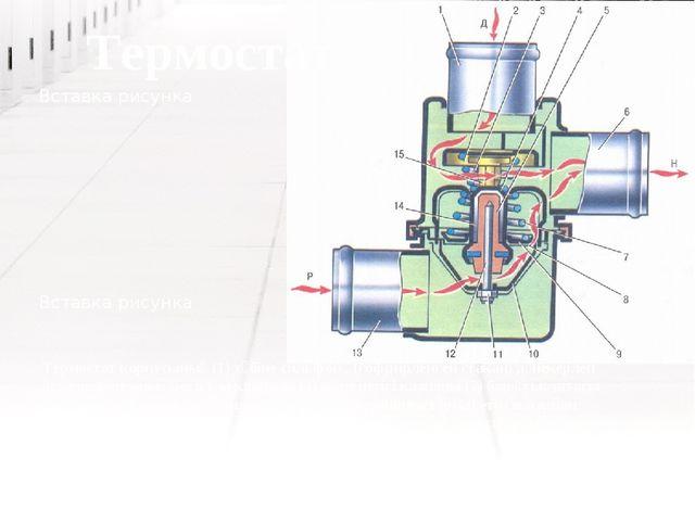 Термостат корпусының (1) түбіне сильфон , (гофрирленген стакан) дәнекерлеп ұс...