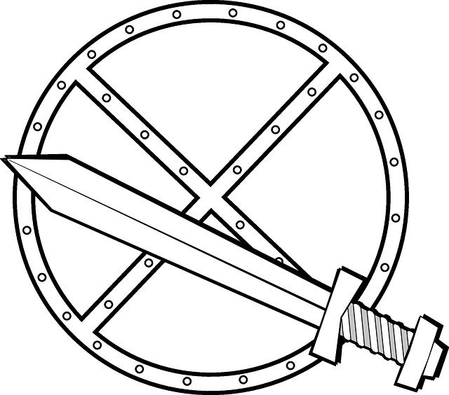 Оружие богатырей раскраска