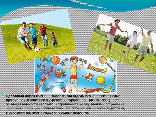 Здоровый образ жизни— образ жизни отдельного человека с целью профилактики б...