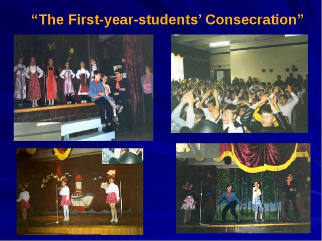 """""""The First-year-students' Consecration"""""""