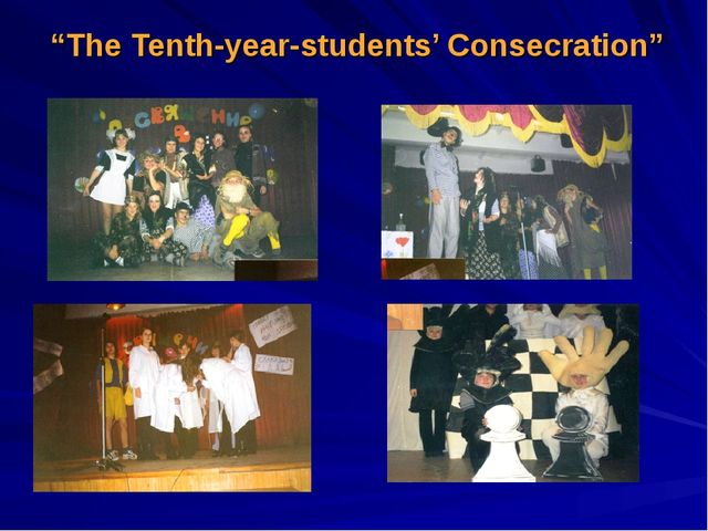 """""""The Tenth-year-students' Consecration"""""""