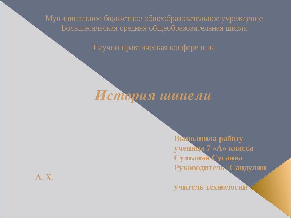 Муниципальное бюджетное общеобразовательное учреждение Большесальская средняя...