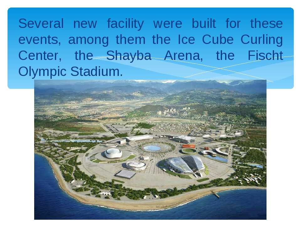 Several new facility were built for these events, among them the Ice Cube Cur...