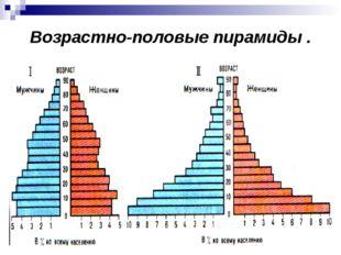 Возрастно-половые пирамиды .