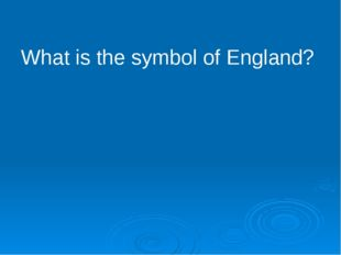 What is the symbol of England?