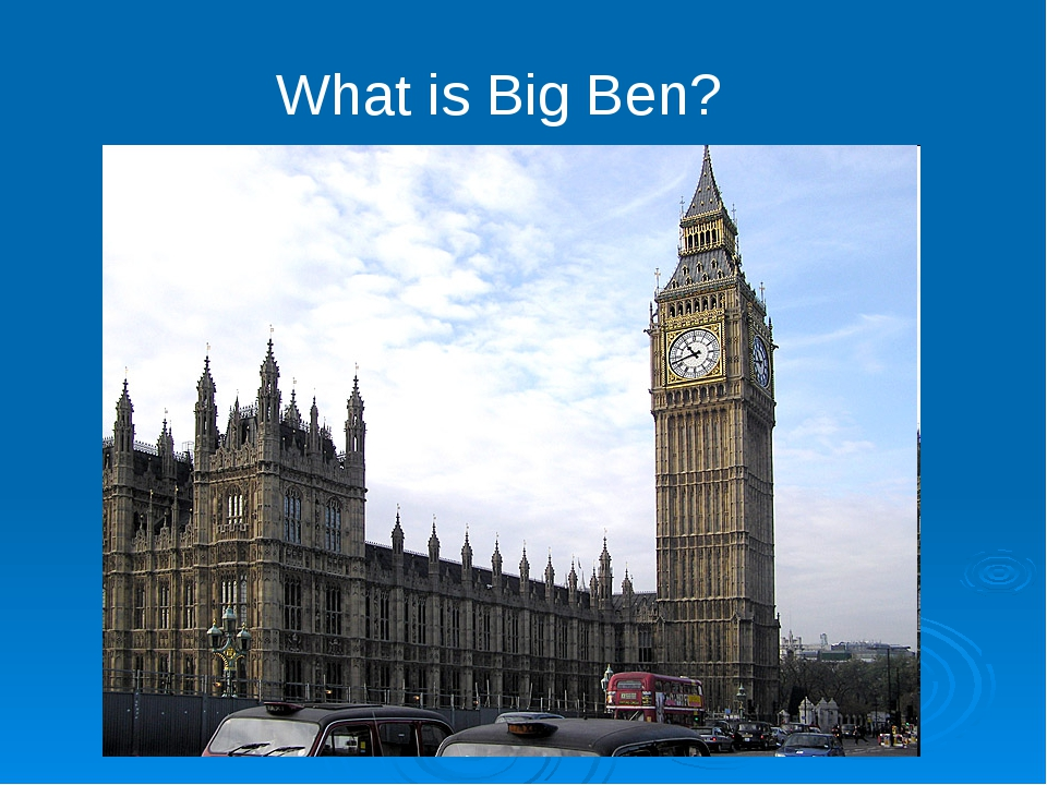 What is Big Ben?