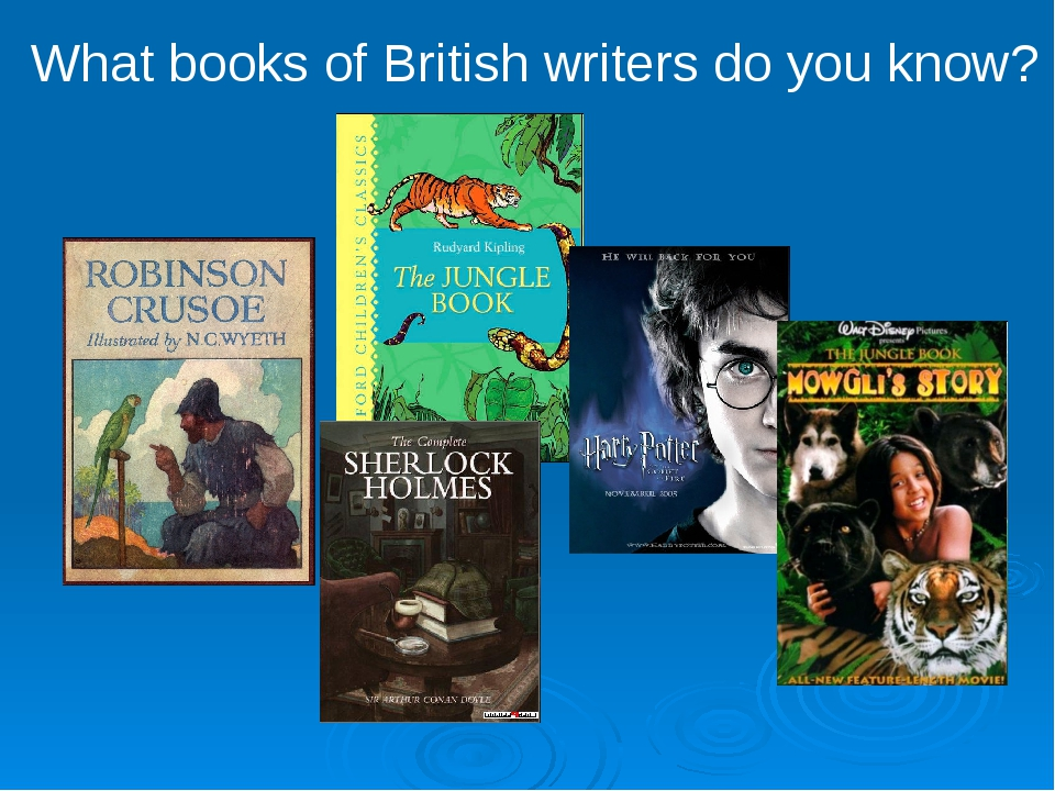 What books of British writers do you know?