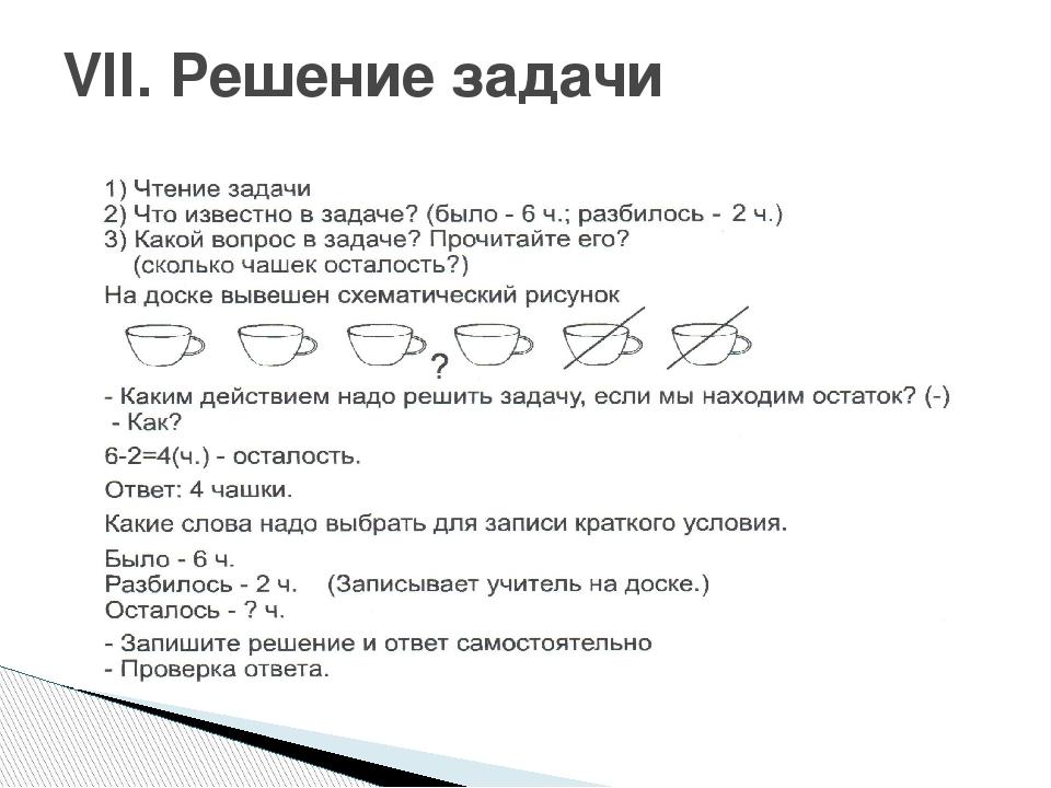 VII. Решение задачи