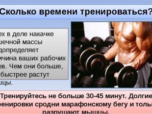 Сколько времени тренироваться? Успех в деле накачке мышечной массы предопреде