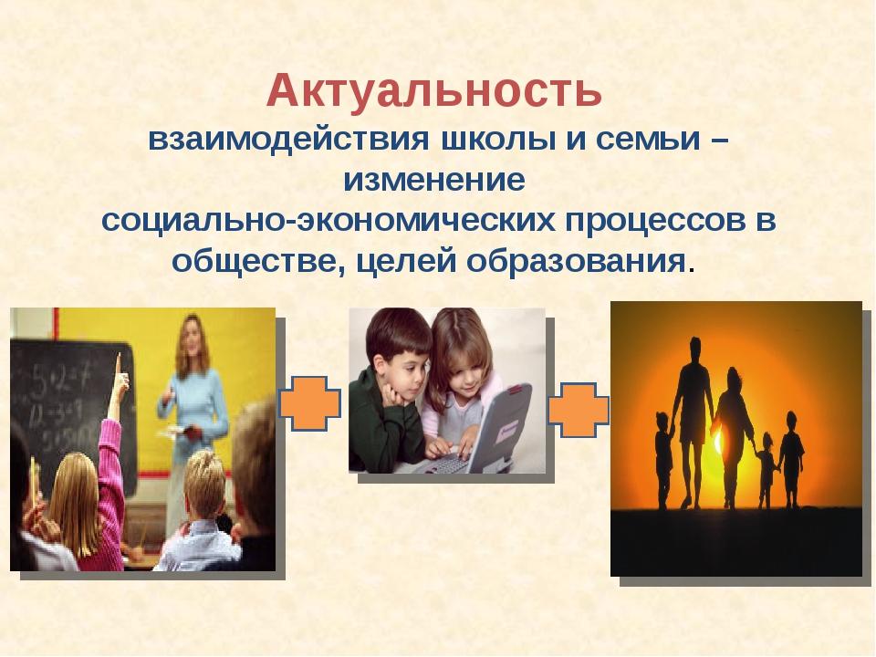 Актуальность взаимодействия школы и семьи – изменение социально-экономически...