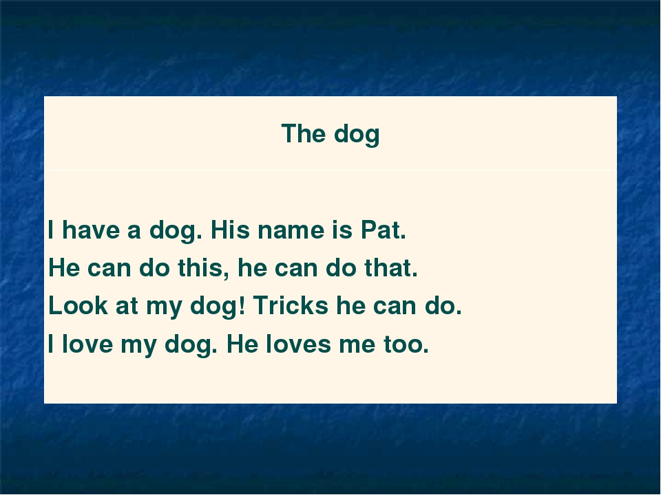 The dog I have a dog. His name is Pat. He can do this, he can do that. Look a...