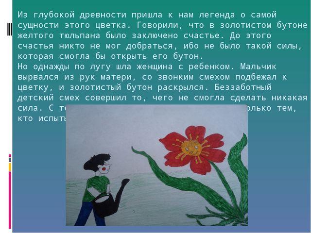 Из глубокой древности пришла к нам легенда о самой сущности этого цветка. Гов...
