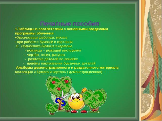 1.Таблицы в соответствии с основными разделами программы обучения Организаци...