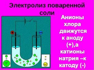 Электролиз поваренной соли
