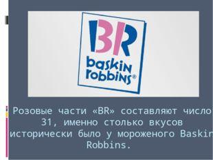 Розовые части «BR» составляют число 31, именно столько вкусов исторически был