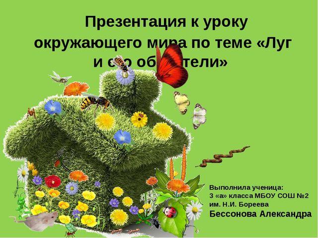 Презентация к уроку окружающего мира по теме «Луг и его обитатели» Выполнила...