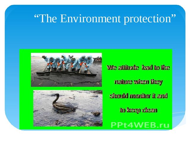 """""""The Environment protection"""""""