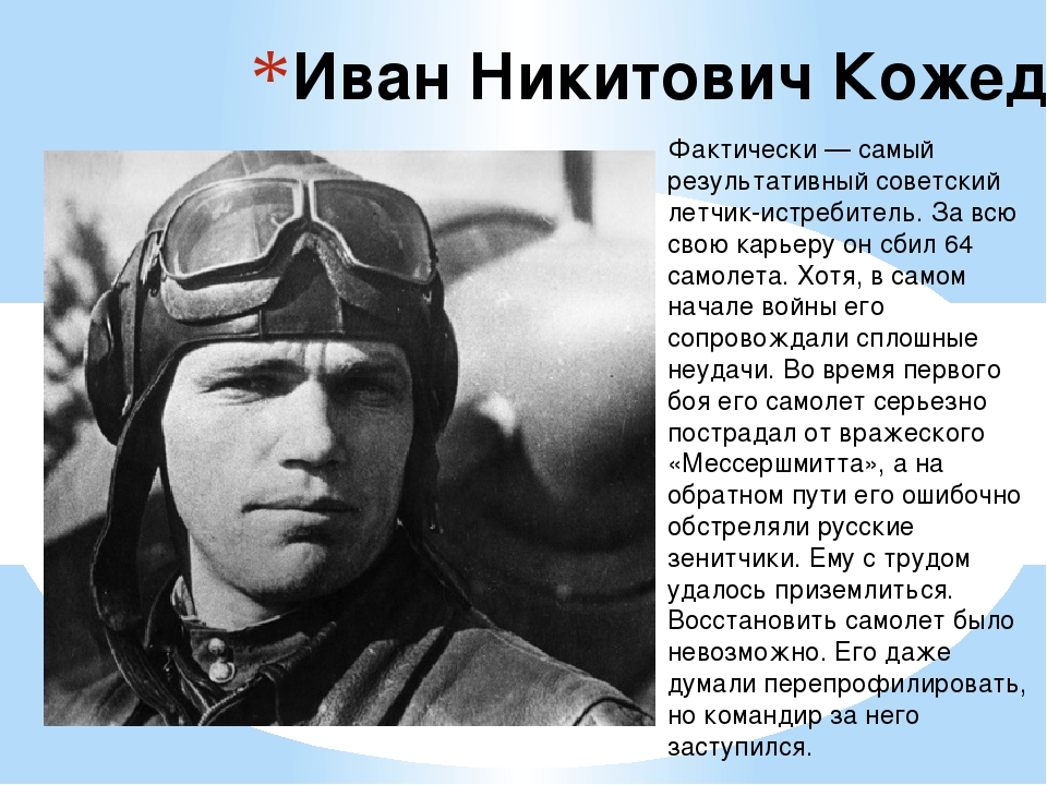 Иван Никитович Кожедуб  Фактически — самый результативный советский летчик-и...