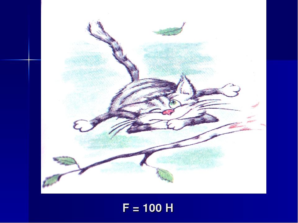 F = 100 H