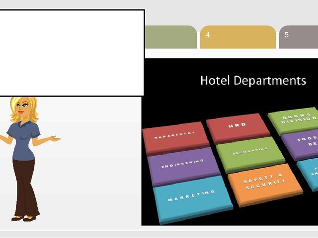 1 Classification of Hotel departments 1. Revenue center 2. Cost center depart...