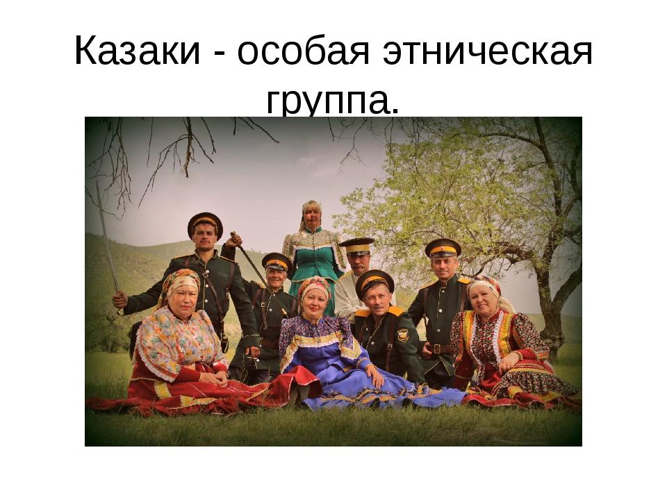 Казаки - особая этническая группа.
