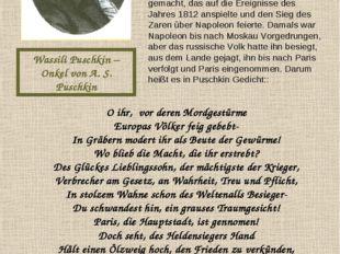 Wassili Puschkin – Onkel von A. S. Puschkin Als Aiexander Puschkin 16 Jahre a