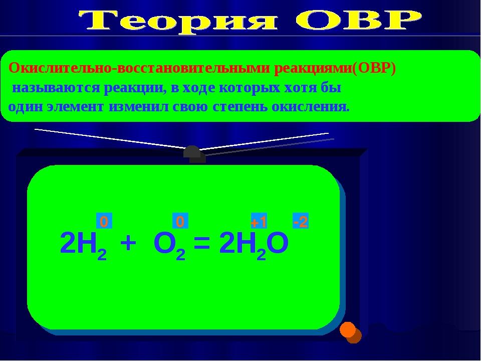 Окислительно-восстановительными реакциями(ОВР) называются реакции, в ходе кот...