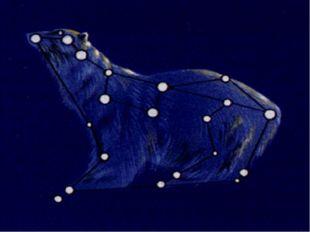 На ночном небе легко найти созвездие Большой Медведицы