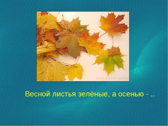Весной листья зелёные, а осенью - ..