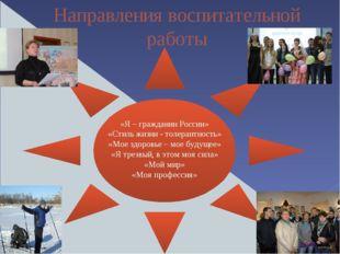 Направления воспитательной работы «Я – гражданин России» «Стиль жизни - толе