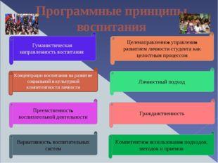 Программные принципы воспитания Преемственность воспитательной деятельности Ц