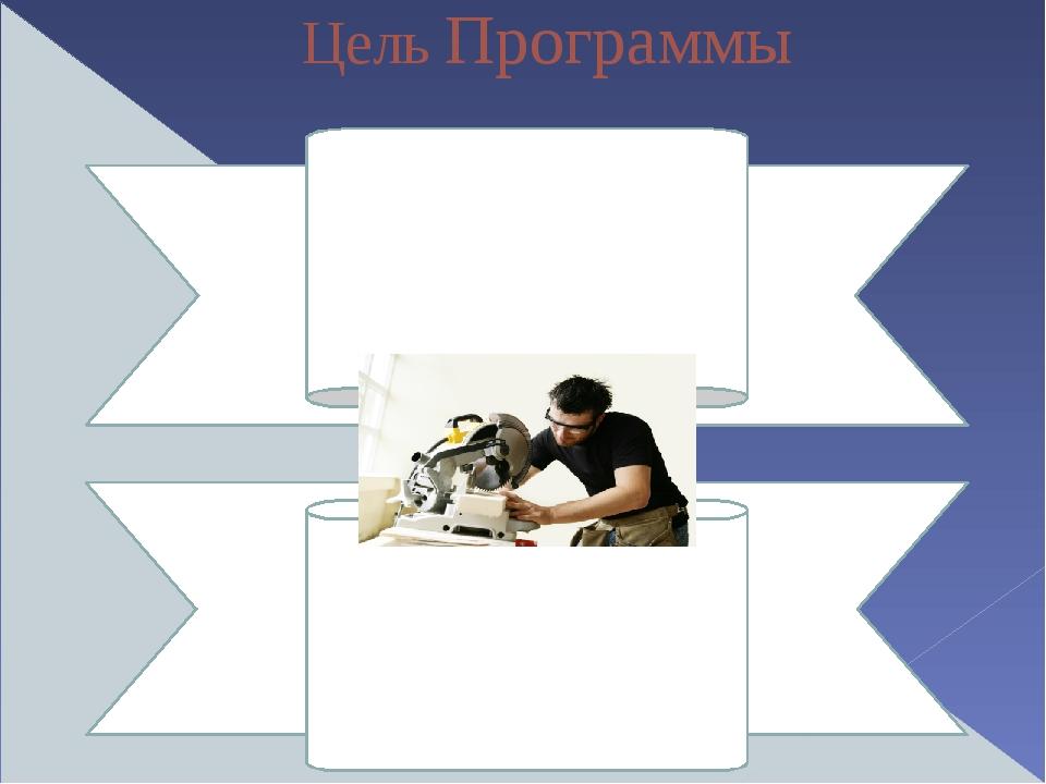 Цель Программы Создание условий для воспитания и социально-педагогической под...