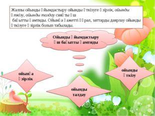 Ойынды ұйымдастыру үш бағытты қамтиды ойынға әзірлік ойынды талдау ойынды өтк