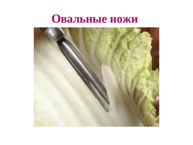 Овальные ножи