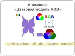 Анимация «Цветовая модель RGB» http://files.school-collection.edu.ru/dlrstore