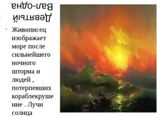 Девятый Вал-одна из самых знаменитых картин русского художника-мариниста Иван