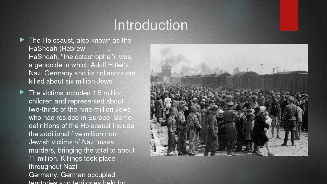an introduction to the holocaust