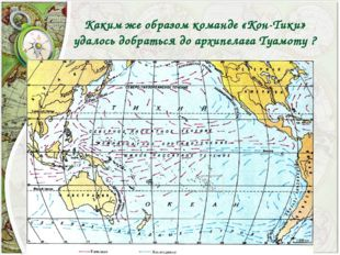 Каким же образом команде «Кон-Тики» удалось добраться до архипелага Туамоту ?