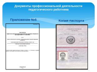 Документы профессиональной деятельности педагогического работника Приложение