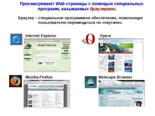 Internet Explorer Opera Mozilla-Firefox Netscape Browser Браузер – специально