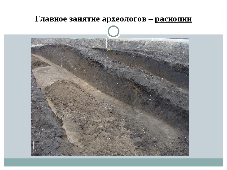 Главное занятие археологов – раскопки