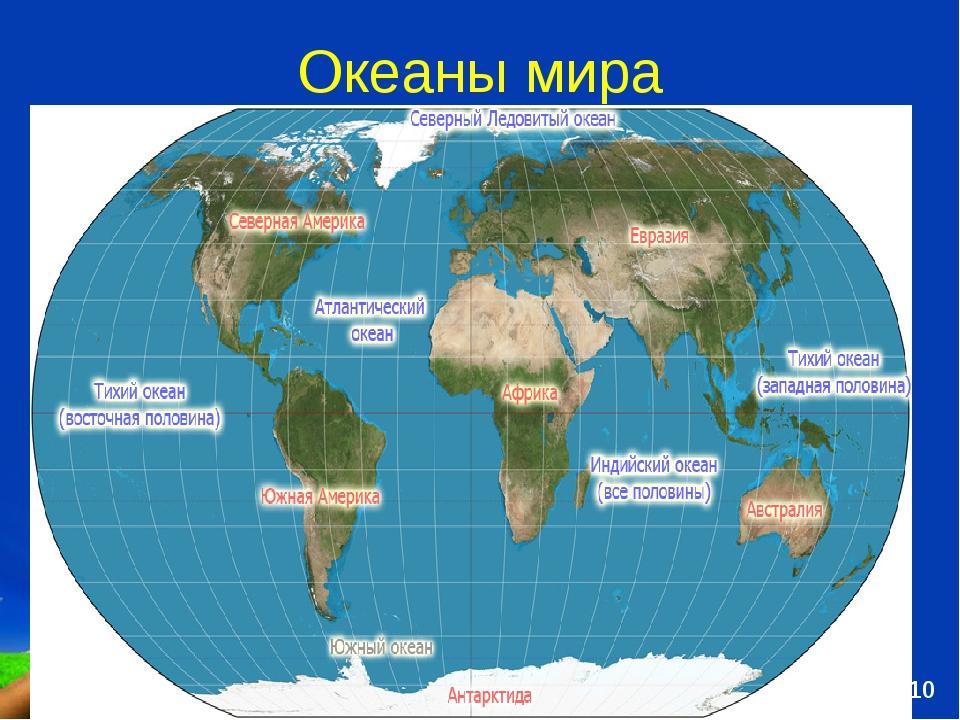 Океаны мира Free Powerpoint Templates Page *